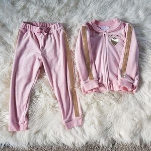 Toddler girl track suit